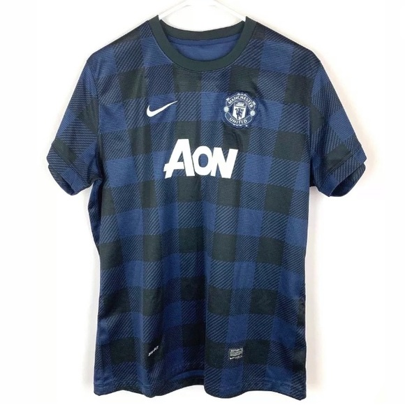 new style a8372 61ee1 Manchester United 2013 Jersey Black Blue Men XL